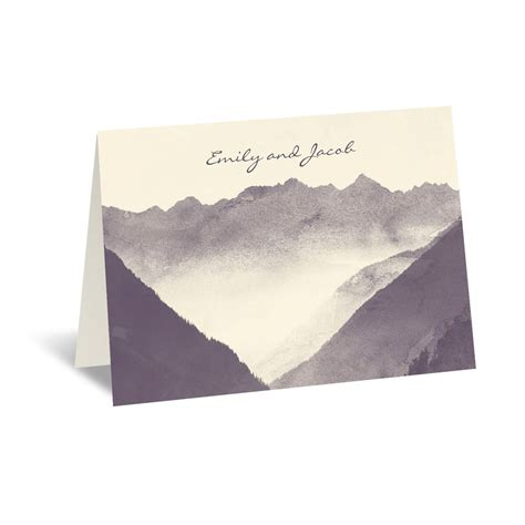 card envelope mountain mist thank you card and envelope invitations by