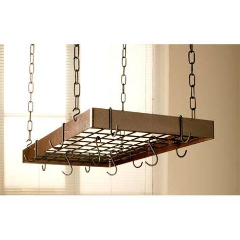 Copper Hanging Pan Rack Outdoor