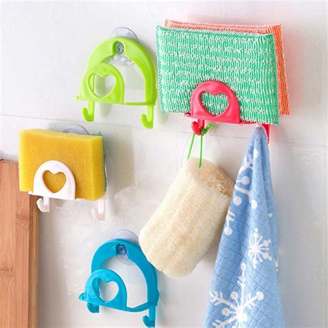 bathroom cleaning sponge bathroom kitchen wall strong suction cleaning sponge hook