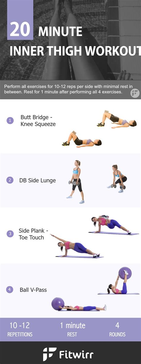 the best 20 minute inner thigh workout to lose the leg
