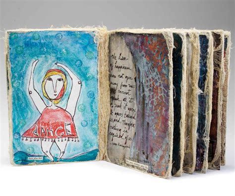 Handmade Artwork - handmade books learn how to make a book using mixed media