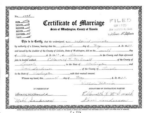 King County Washington Marriage Records Now Day S Marriage Certificate Is Essential Document