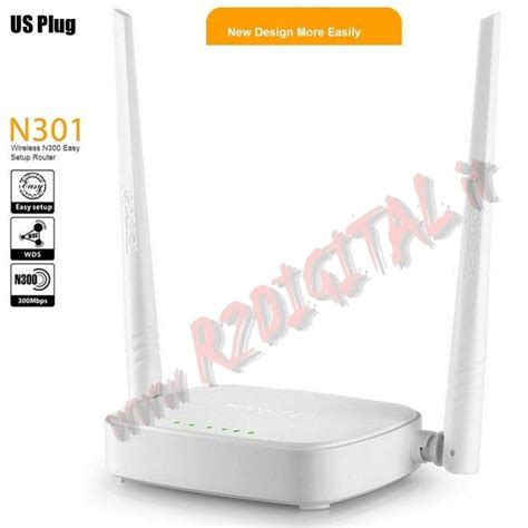 Tenda N301 Router Repeater Wifi Wirelles N300 Easy Setup Router access point tenda n301 wireless 300m n 2 antenne rimovibili lan wan wifi router range extender