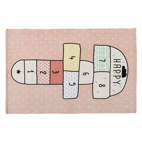 tappeto rosa tappeto rosa in cotone con gioco di cana 120 x 180 cm