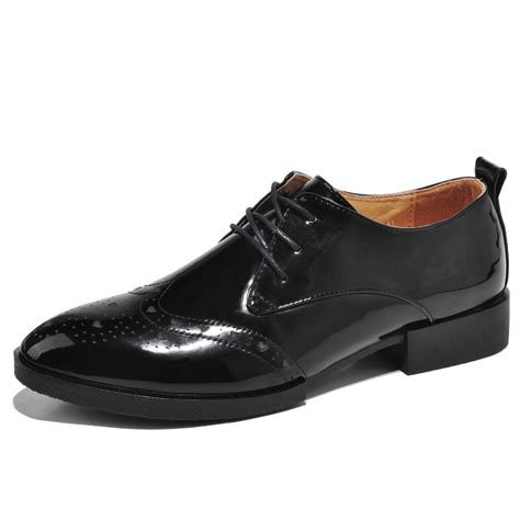 new 2015 leather oxford brogues shoes and mens black