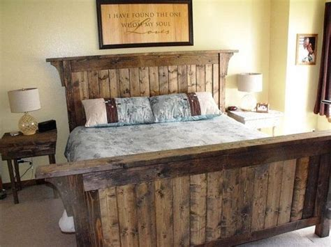 How To Build A Rustic Bed Frame 25 Best Ideas About Rustic Bed Frames On Pinterest Diy Bed Frame King Size Bed Frame And