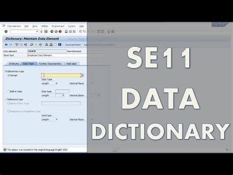 construct 2 dictionary tutorial beginners guide learn sap abap se11 data dictionary
