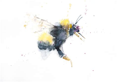 jen buckley art signed print of my original bumble bee