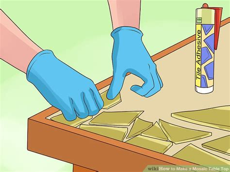 how to make a glass mosaic table top how to make a mosaic table top 15 steps with pictures