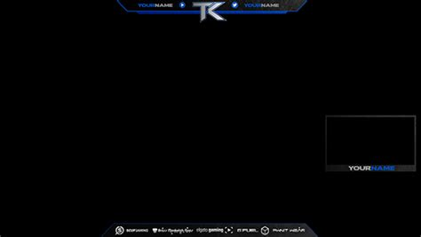 twitch layout template twitch overlays on behance