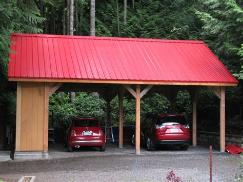 Small Carport Kit Custom Small Post And Beam Structures Peerless Forest