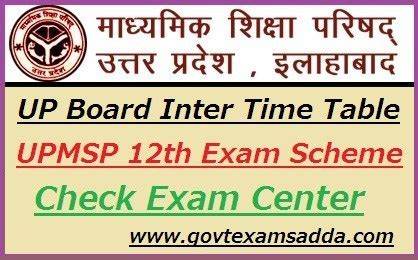 board intermediate time table  upmsp  class