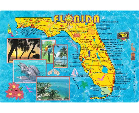 detailed map of florida maps of florida state collection of detailed maps of