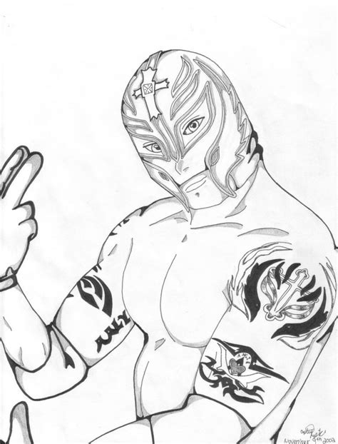rey mysterio coloring pages rey mysterio coloring pages