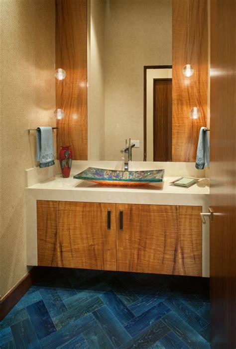 Wood Floor In Powder Room by Wood Floors Powder Room San Diego By