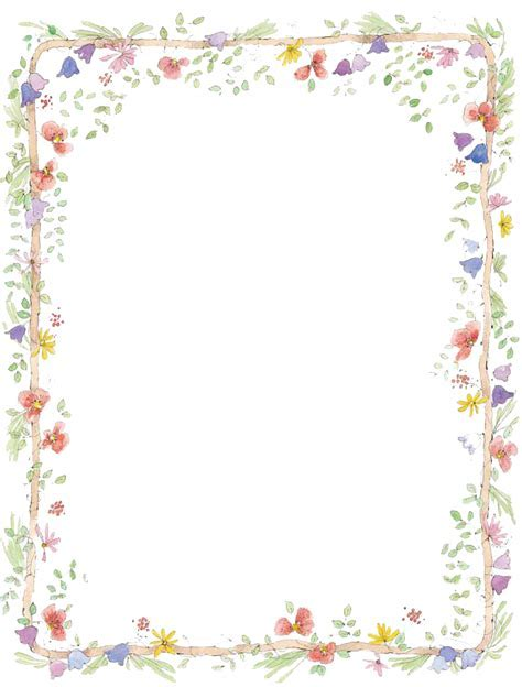 Flower border frame png #39755   Free Icons and PNG