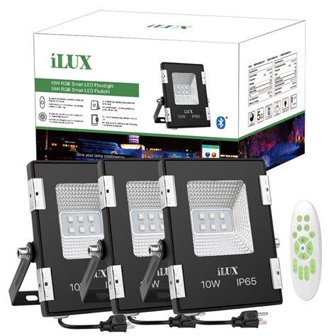le 10w rgb led flood lights 10w ilux app mesh bluetooth mesh control led rgb smart
