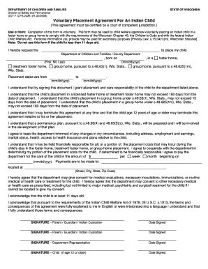 placement agreement template bill of sale form wisconsin child custody form templates
