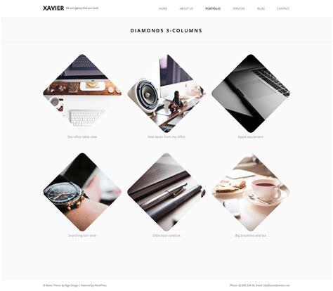 themeforest xavier xavier portfolio and agency wordpress theme by pego