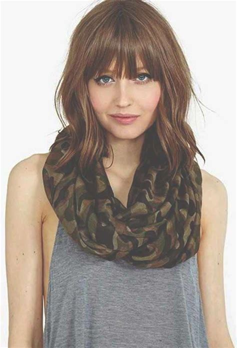 Hairstyles For Faces Medium Hair by 25 Ideas Of Medium Hairstyles For Faces With Bangs