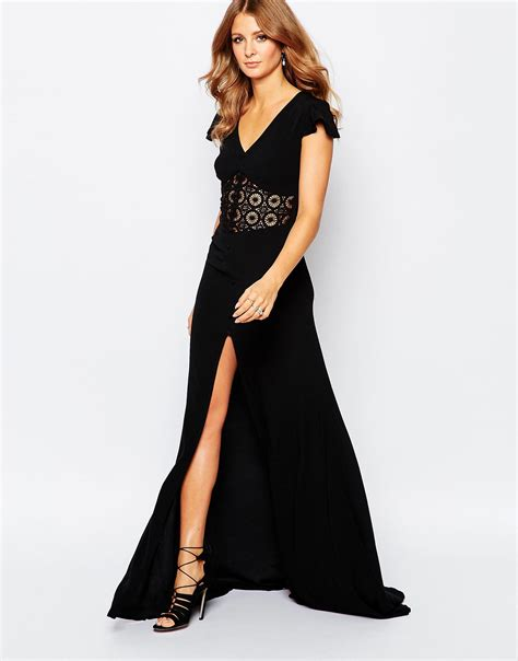 Clothes Maxi Rb T2909 millie mackintosh button through maxi dress in black il rb001 black in black lyst