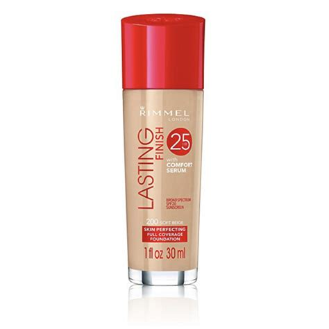 rimmel lasting finish 25h foundation with comfort serum 200 soft beige 30 ml 163 5 25