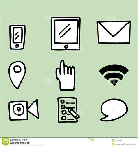 6 Drawing Media by Social Media Icons Royalty Free Stock Photo Image 32204725