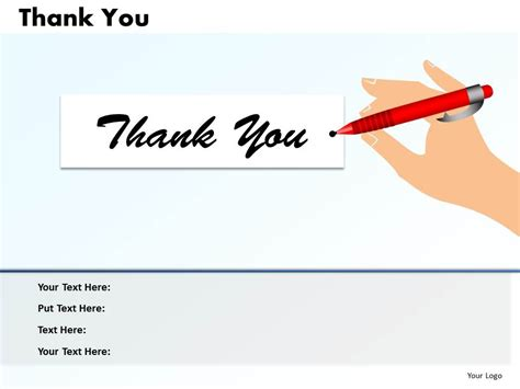 thank you powerpoint template 0314 layout of thank you slide powerpoint presentation