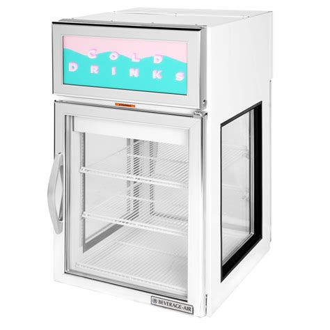 Countertop Refrigerator by Beverage Air Cr5ge 1w G White Countertop Display
