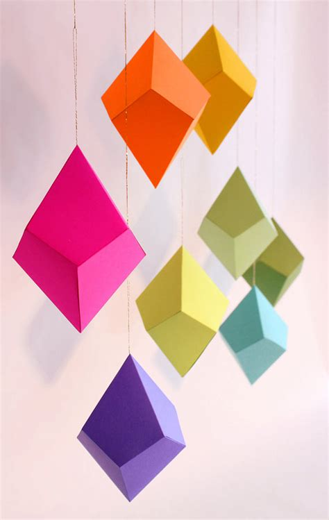 Folded Paper Ornament - cut and fold paper ornaments by darbie nowatka design