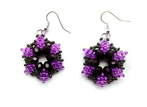 beaded earrings patterns beadsmagic free pattern for beautiful beaded earrings