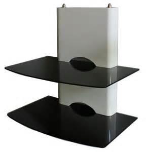 floating wall mount bracket dvd mount 2 shelf justbrackets
