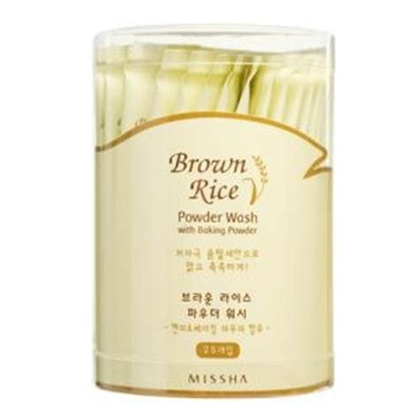 Brown Rice Detox Reviews by Missha Brown Rice Powder Wash With Baking Powder 25ea