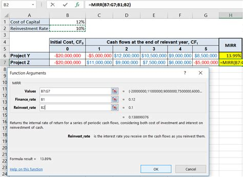 Modified Npv Definition by Modified Rate Of Return Mirr Method