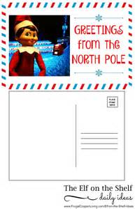 on the shelf ideas sends a postcard printable