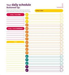 everyday schedule template daily schedule template 29 free word excel pdf