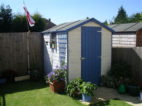 Painted Garden Sheds by Cmpl Garden Shed Paint