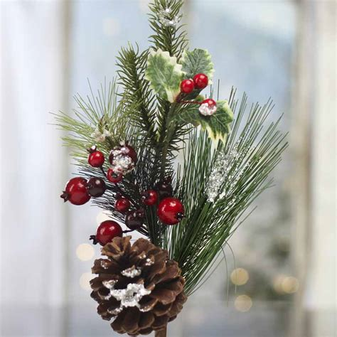 christmas floral picks and stems artificial pine stem picks and stems floral supplies craft supplies