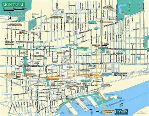 map canada montreal montreal plan de la ciudad mapas imprimidos de