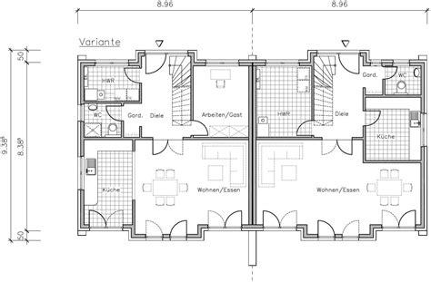 Grundriss Doppelhaus Ebenerdig by Doppelhaus 130 24