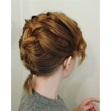 hair and hearing aids french braid to show off hearing aids hair and style