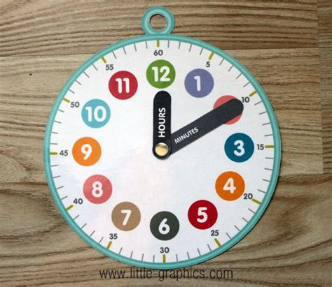 A Paper Clock - 17 best ideas about clock craft on teaching