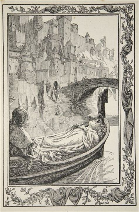 Lancelot And Guinevere Essay by The Barge Floated The River Illustration From Stories Of King Arthur And The Table