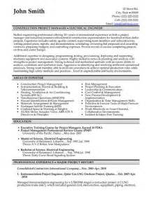 Construction Sle Resume by Click Here To This Construction Project Manager Resume Template Http Www