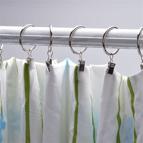 shower curtain clips 10pcs set stainless steel window shower curtain rod clips
