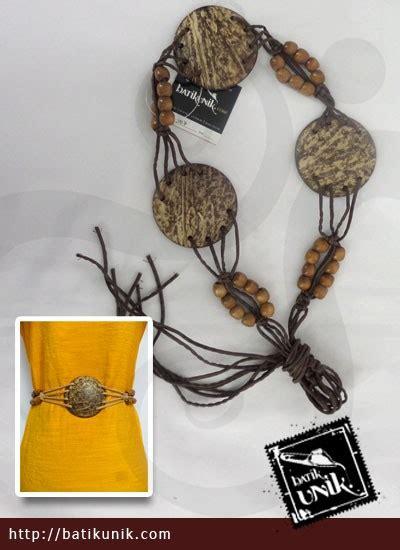 Sale Ikat Pinggang Anak Karet Elastis ikat pinggang tali batok monte kayu sabuk etnik murah batikunik