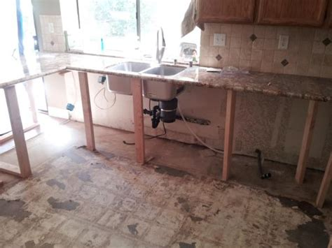 How To Install Granite Countertops Yourself by Replacing Cabinets While Leaving Granite Doityourself