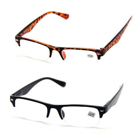 half half frame reading glasses eyeglasses spectacles