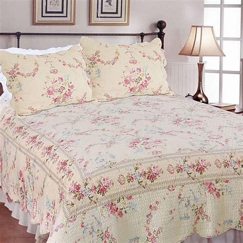 antique rose comforter set beautiful antique vintage red pink rose cotton ivory