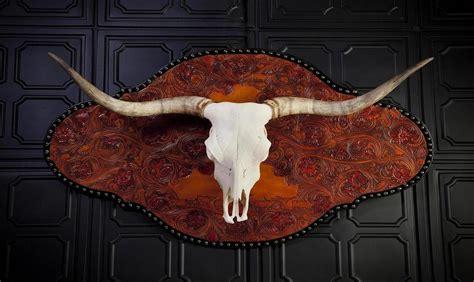 hand crafted maxamillion longhorn skull wall mount